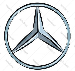Mercedes Benz logo, vector or color illustration.